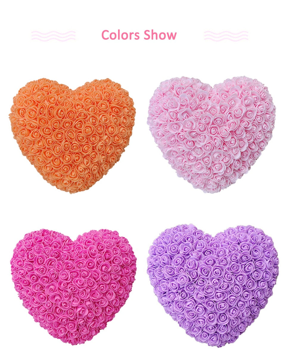 Forever Rose Heart (16 Colors)