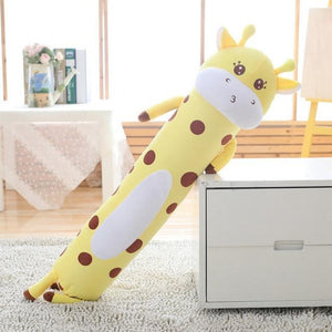 Tubular Animals Pillow Plush 3D Stuffed Animal Dog, Bear, Dino, Giraffe, Kitty, Bunny or Pig