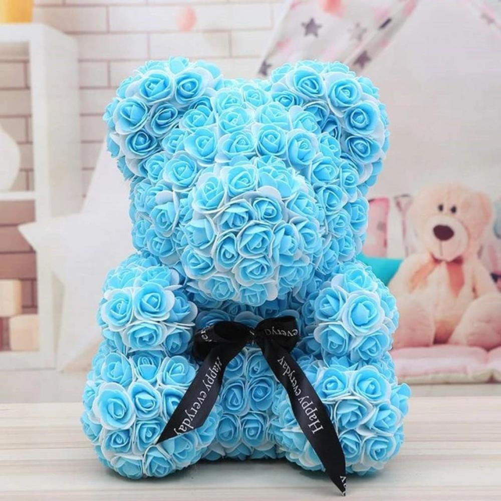 Limited Edition Two Tone Enchanted Forever Rose Heart Teddy Bear (12 Colors) L & XL