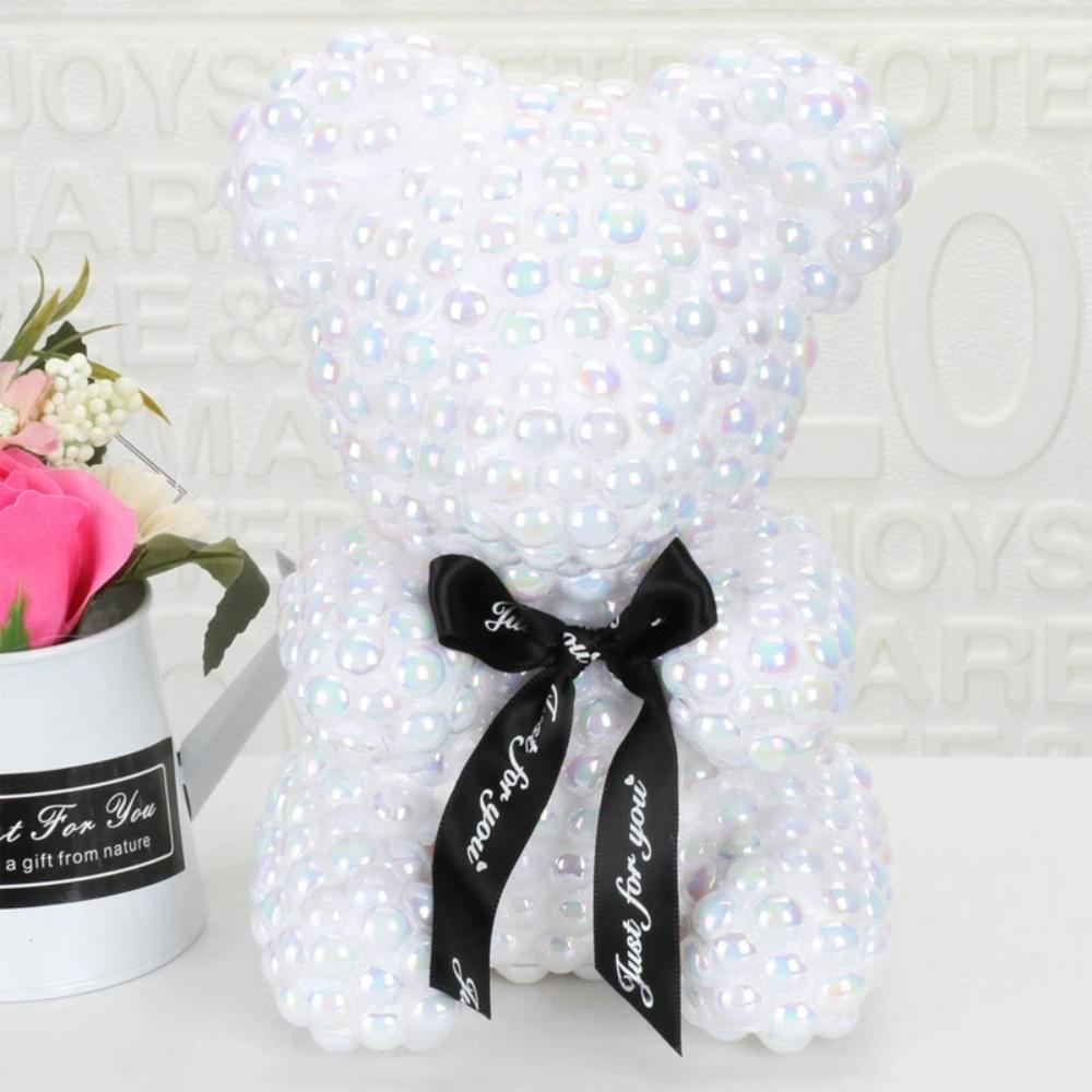 Pearl Enchanted Forever Rose Heart Teddy Bear (3 Colors)