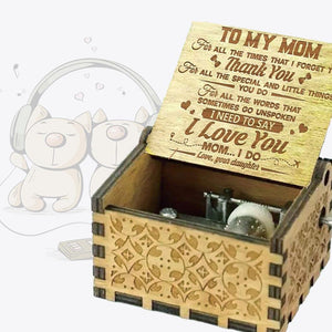 To Mom From Daughter - For All The Times I Forgot To Thank You I Love You - Engraved Music Box *May Arrive After Mothers Day*