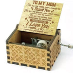 To Mom From Daughter - For All The Times I Forgot To Thank You I Love You - Engraved Music Box