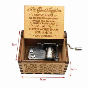 To Granddaughter - You Are Love More Than You Know - Engraved Music Box