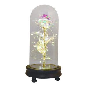 New Colors Galaxy Enchanted Rose LED Glass Display (5 Designs)