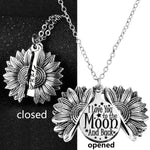 *Custom 2-4 weeks to make* I Love You To The Moon and Back Sunflower Pendant Necklace