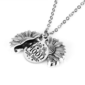 I Love You To The Moon and Back Sunflower Pendant Necklace