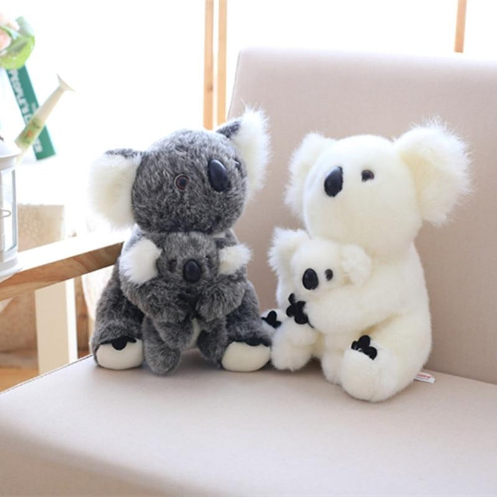 Momma & Baby Koala Pillow Plush 3D Stuffed Animal (2 Colors)