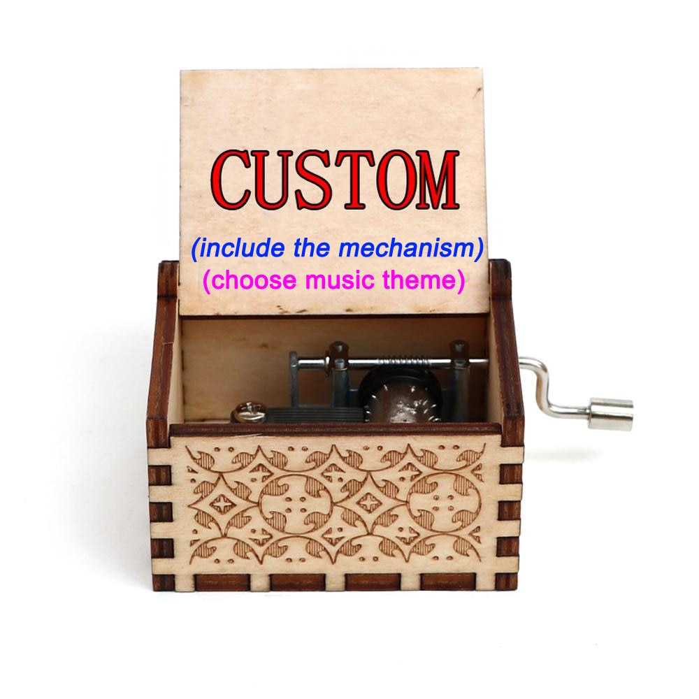 *Custom 2-4 weeks to make* Personalized Text - Engraved Music Box - Anniversary, Birthday & More