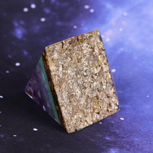 Orgonite Pyramid Chakra Energy Meditation Stone