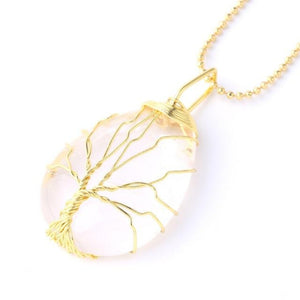 Tree of Life Natural Stone Reiki Necklace (20 Designs)