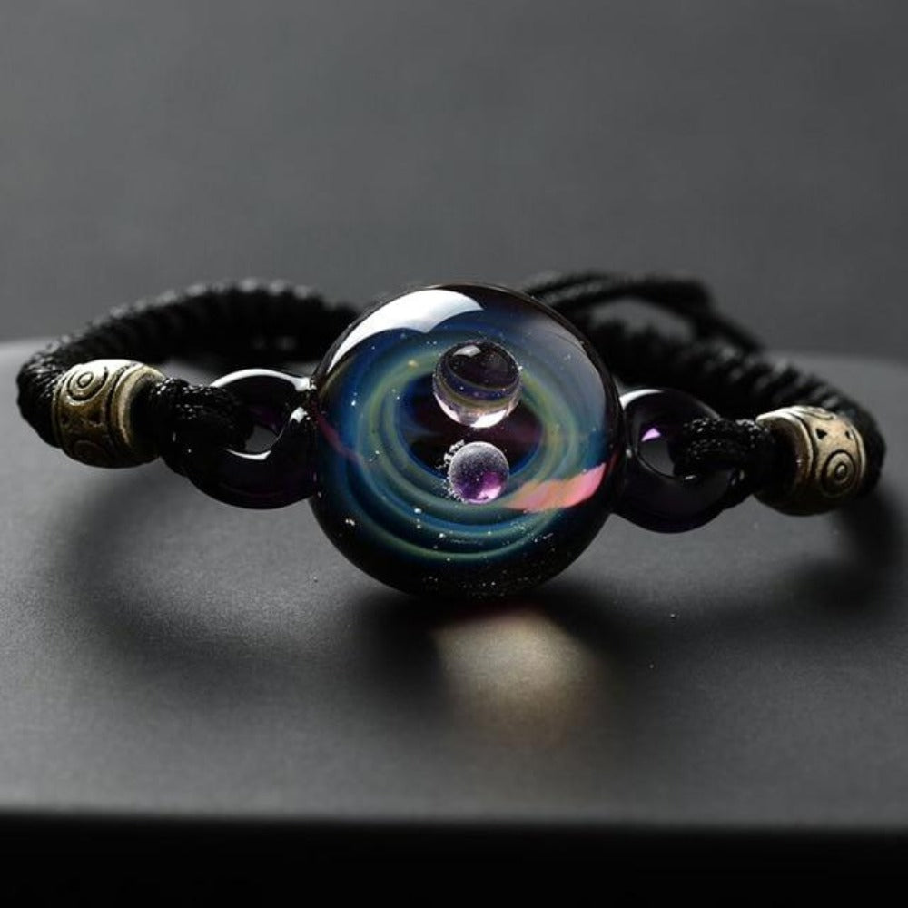 Galaxy Drop Glass Space Pendant Bracelet (8 Designs)