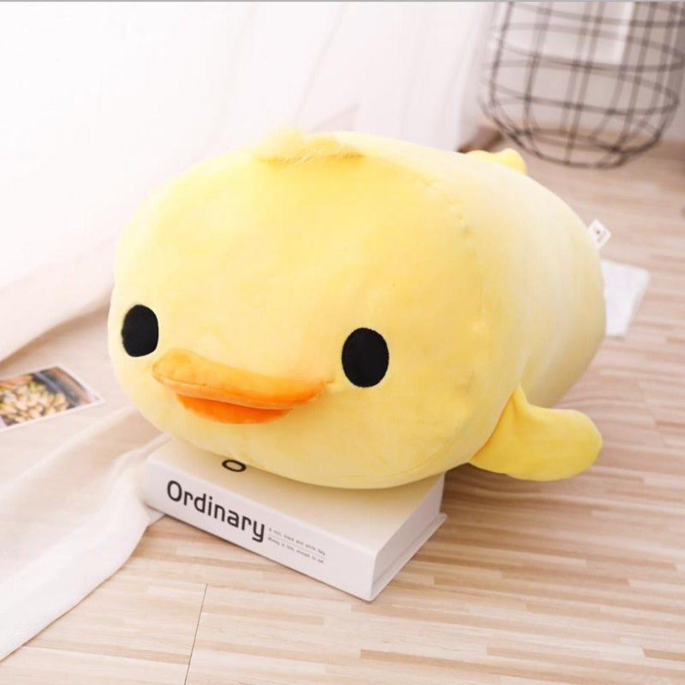Duck Pillow Plush 3D Stuffed Animal (Yellow or Blue) 40 or 50cm
