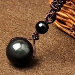 Obsidian Rainbow Eye Necklace Protection Pendant (4 Sizes)