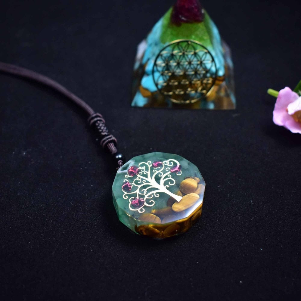Orgonite Pendant Orgone Tree of Life Energy Meditation Necklace (2 Styles)
