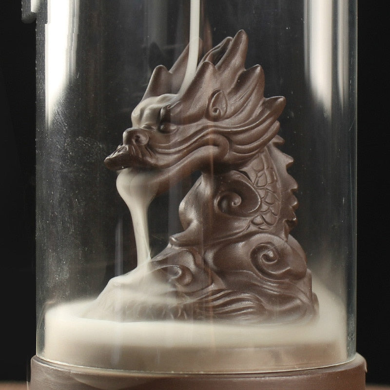 Mystic Dragon Down Flow Draft Incense Burner Cylinder