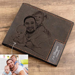 Custom Photo Wallet Personalized Children, Wife, Pets, Family (4 Colors)