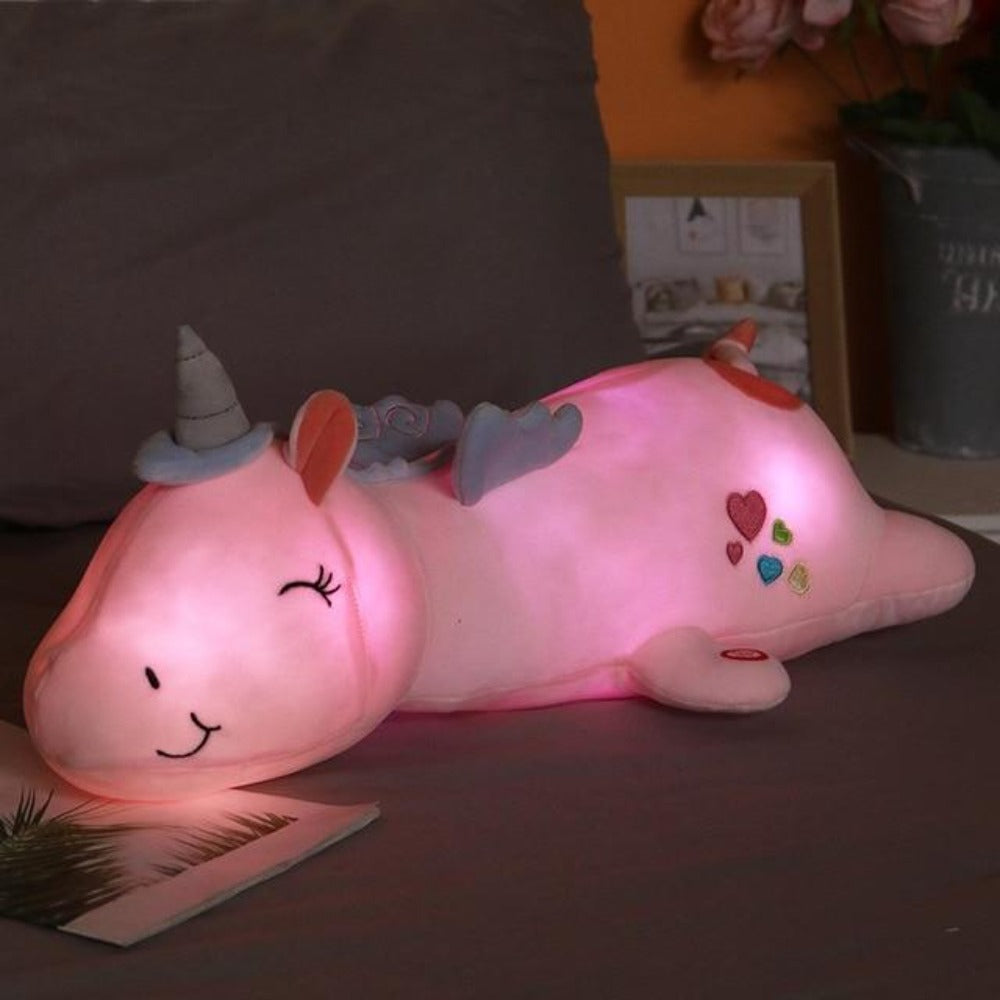 Light Up Unicorn Pillow Plush 3D Stuffed Animal (3 Colors) 60cm