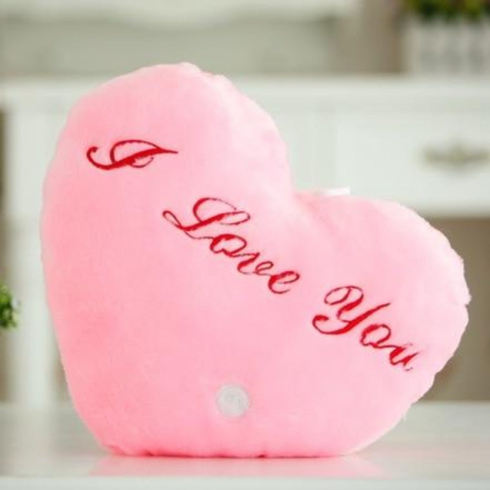 I Love You Heart LED Light Up Plush 3D Stuffed Pillow (5 Colors)