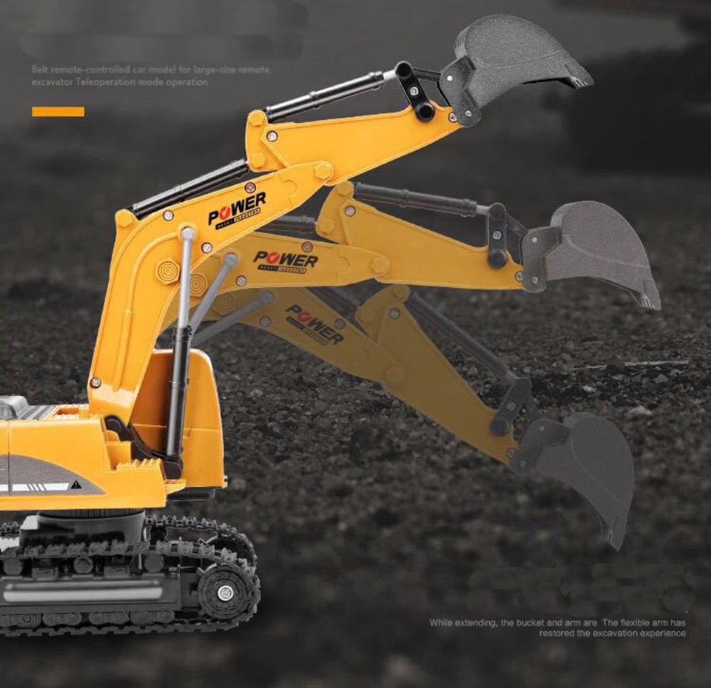 Remote Control Excavator Tractor Backhoe (AA or Rechargeable)