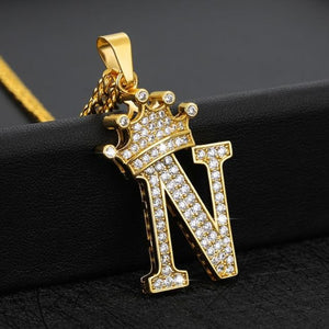 Royal Ice Personalized Letter Initial Custom Necklace