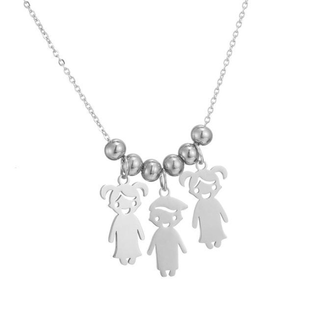 Custom Necklace Personalized Children Names Charms (up to 5 names)