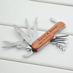 Custom Text Multi Tool Personalized Name Pocket Knife