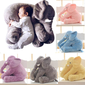 Baby Elephant Pillow Plush 3D Stuffed Animal (2 Sizes 5 Colors)