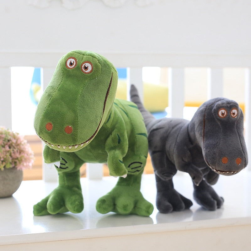 T Rex Dinosaur Pillow Plush 3D Stuffed Animal (Green or Grey) 4 Sizes