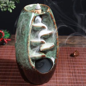 Mystic Mountain River Down Flow Draft Incense Burner (6 Colors) New Colors