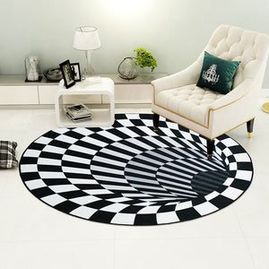 3D Vortex Portal Carpet Optical Illusion (5 Sizes)