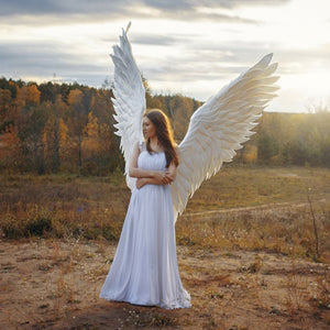 Costume Angel Wings (Black or White) Child or Adult Sizes