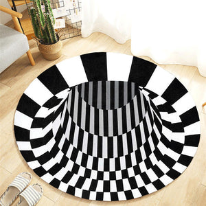 3D Vortex Portal Carpet Optical Illusion (25 Designs/Sizes)