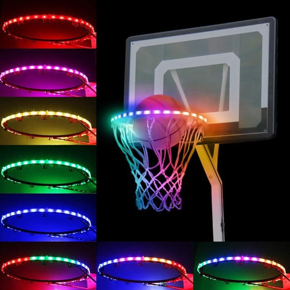 Upgraded 2020 Light Up Basketball Hoop LED Lights Hoop Activated (battery or solar powered)