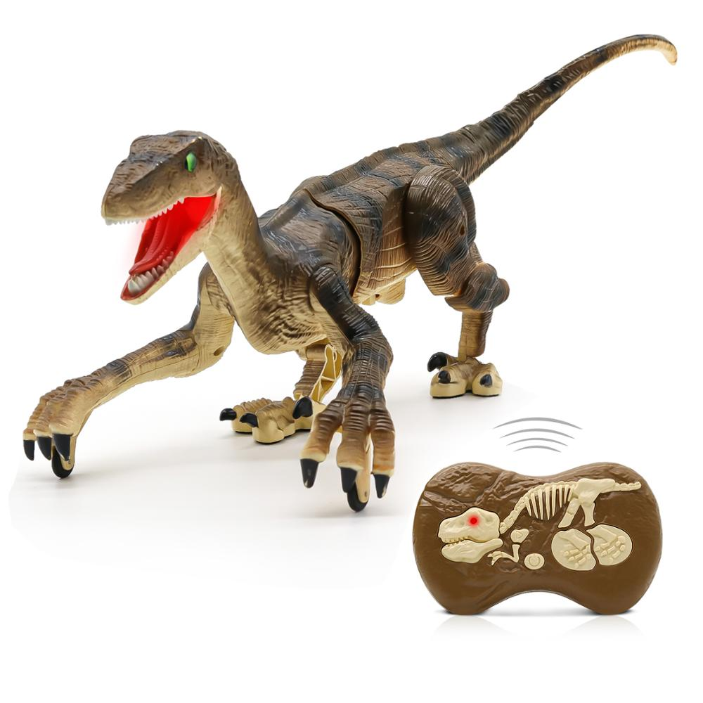 On The Hunt Velociraptor RC Smart Robot Dinosaur (Grey or Brown)