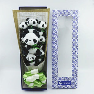 Panda Rose Teddy Bear Bouquet Enchanted Flower Box Included