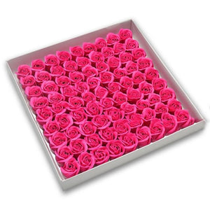 81 Piece Rose Scented Enchanted Soap Flower (19 Colors)