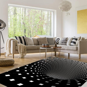 3D Vortex Portal Carpet Optical Illusion (2 Designs) Rectangle