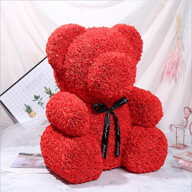 XXL 70cm Enchanted Forever Rose Teddy Bear (6 Colors)