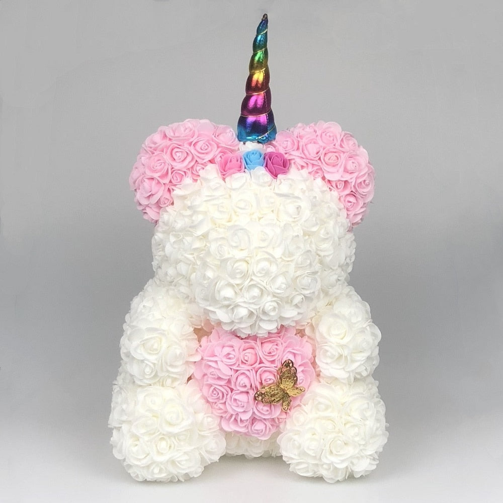 Limited Edition 2021 Unicorn Rose Bear 40cm w/Butterfly