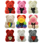 Rainbow Enchanted Forever Rose Heart Teddy Bear (34 Designs)