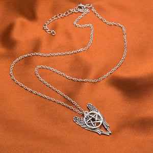 Angel Wings Pentacle Necklace