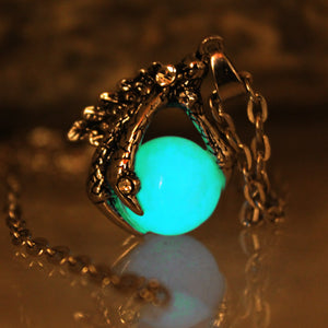 Dragon's Claw Luminous Glow In The Dark Necklace