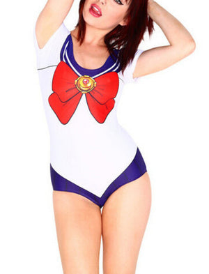 Sailor One Piece Swimsuit (10 Colors) Sizes S - 4XL