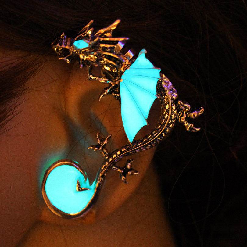 Chinese Dragon Ear Cuff Luminous Glow In The Dark Necklace (3 Colors)