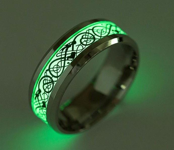 Dragon Ring Luminous Glow In The Dark Necklace