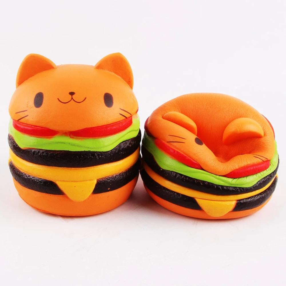 Kawaii Jumbo Cat Hamburger Squishy