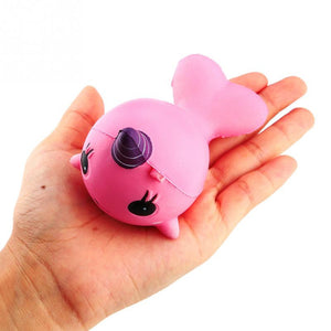 Kawaii Narwhal Squishy (Pink or Blue)
