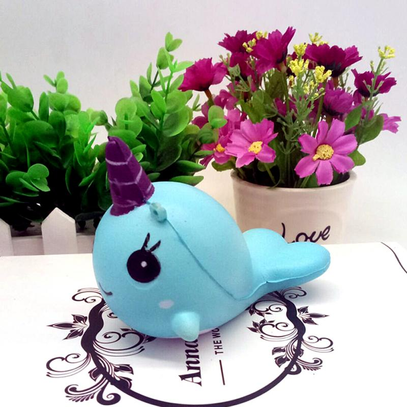 Kawaii Norwhal Squishy (Pink or Blue)