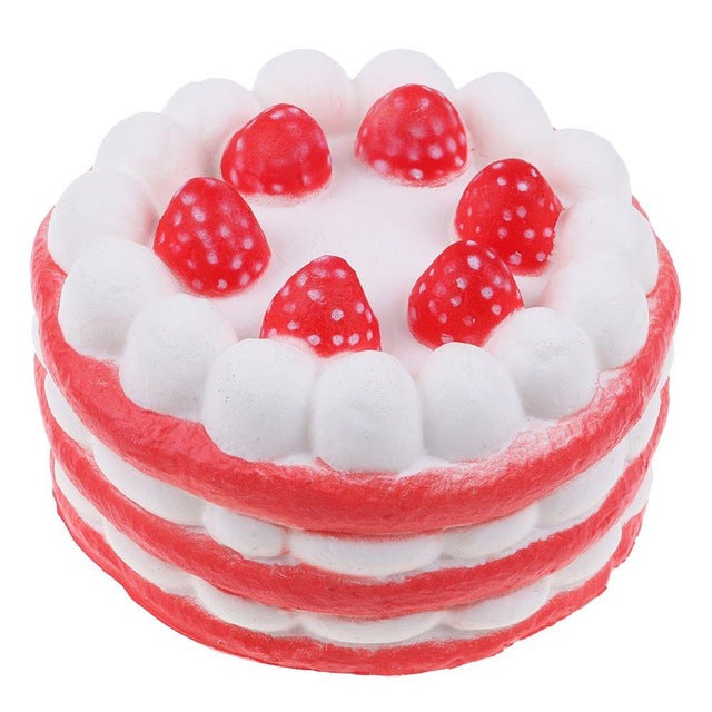 Jumbo Strawberry Cake Squishy (4 Colors)