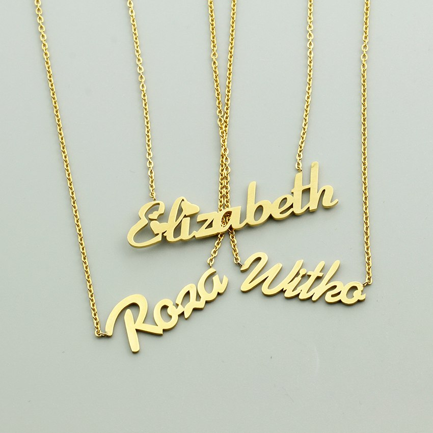 Custom Laser Cut Name Necklace (Variant 1)